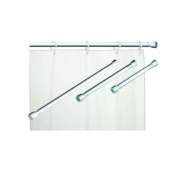 Var o para cortina de banheiro extens vel a o branco maxeb - Leroy merlin barras de cortina ...