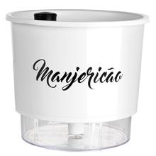 Vaso Auto-Irrigável Raiz - Grande - Gourmet - Branco - Manjer