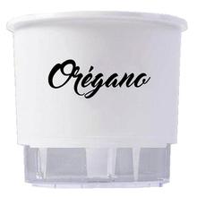 Vaso Auto-Irrigável Raiz - Grande - Gourmet - Branco - Orégano