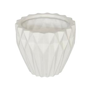 Vaso Ceraâmica Nordic Branco Médio