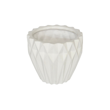Vaso Ceraâmica Nordic Branco Pequeno