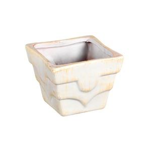Vaso Cerâmica 9x10cm Bege Vasos & Cia