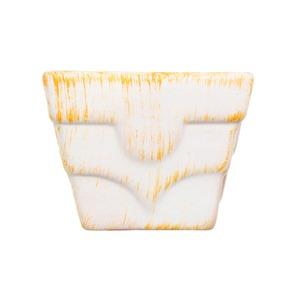 Vaso Cerâmica 9x10cm Laranja Vasos & Cia