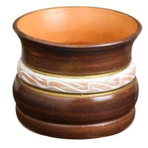 Vaso Cerâmica Bahia 14x18cm Café Associação Adelino