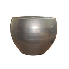 Vaso Cerâmica Bola Cobre Grande