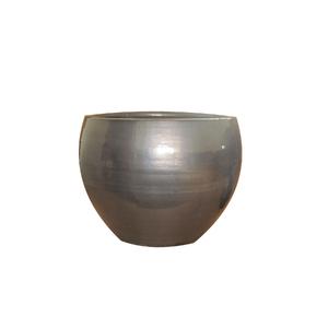 Vaso Cerâmica Bola Cobre Médio