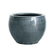 Vaso Cerâmica Bola Cromo Grande