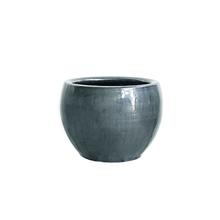 Vaso Cerâmica Bola Cromo Médio