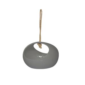 Vaso Cerâmica com Alça Essential Cinza Pequeno