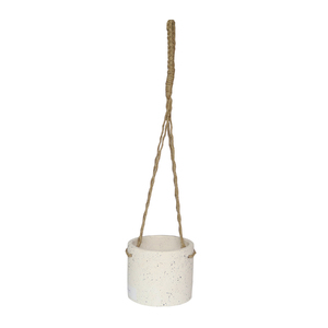 Vaso Cerâmica com Alça Reconnect Branco Pequeno