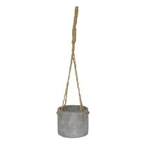 Vaso Cerâmica com Alça Reconnect Cinza Pequeno