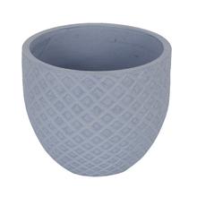 Vaso Cerâmica Comfort Zone Layer Grande Azul