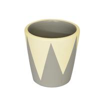 Vaso Cerâmica Cone Nordic Amarelo e Cinza Mini