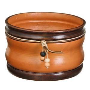 Vaso Cerâmica Country 13x20cm Natural Associação Adelino
