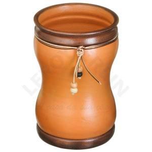 Vaso Cerâmica Country 24x16cm Natural Associação Adelino