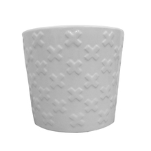 Vaso Cerâmica Cruz Monochrome Branco Médio