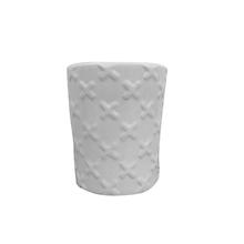 Vaso Cerâmica Cruz Monochrome Branco Pequeno