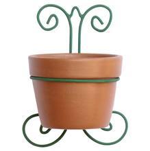 Vaso Cerâmica e Ferro Suporte 25x17cm Natural Associação Adelino