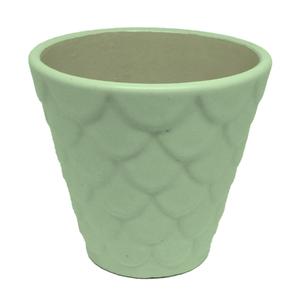 Vaso Cerâmica Florelle Redondo Verde Médio