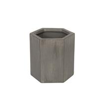 Vaso Cerâmica Hexa Industrial Cinza Mini