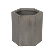 Vaso Cerâmica Hexa Industrial Cinza Pequeno