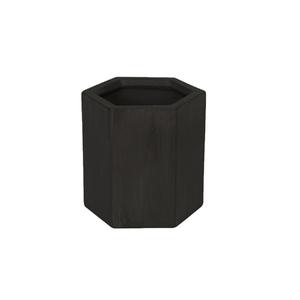Vaso Cerâmica Hexa Industrial Preto Mini