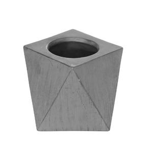 Vaso Cerâmica Irregular Industrial Cinza Pequeno