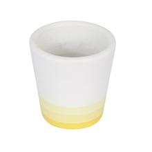 Vaso Cerâmica Neutral Degradê Pequeno Amarelo