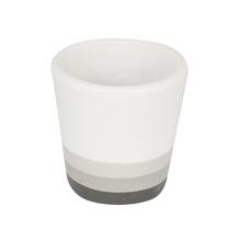 Vaso Cerâmica Neutral Degradê Pequeno Cinza