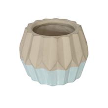 Vaso Cerâmica Nordic Azul e Cinza Pequeno