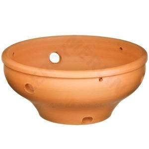 Vaso Cerâmica Orquidea 10x24cm Natural Associação Adelino