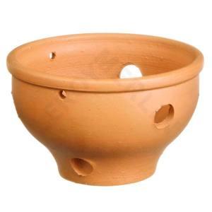 Vaso Cerâmica Orquidea 8x15cm Natural Associação Adelino