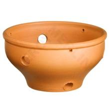 Vaso Cerâmica Orquidea 9x19cm Natural Associação Adelino