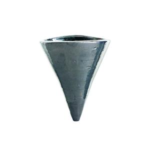 Vaso Cerâmica Parede Cone Cromo Médio