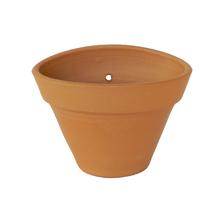Vaso Cerâmica Parede Oval Terracota Pequeno