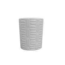 Vaso Cerâmica Pastilha Monochrome Branco Pequeno