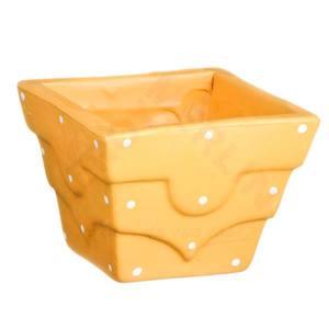 Vaso Cerâmica Petit Poá 9x10cm Bege Vasos & Cia