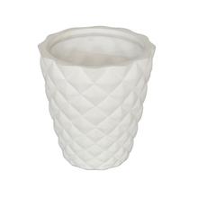 Vaso Cerâmica Rebite Nordic Branco Médio