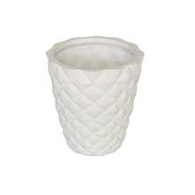 Vaso Cerâmica Rebite Nordic Branco Pequeno