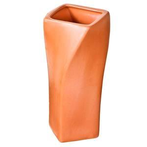 Vaso Cerâmica Reto torcido 10x23cm Vasos & Cia