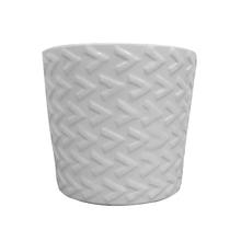 Vaso Cerâmica Seta Monochrome Branco Médio