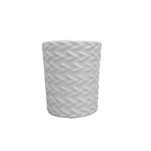 Vaso Cerâmica Seta Monochrome Branco Pequeno