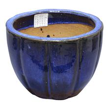 Vaso Cerâmica Vietnamita Azul Grande