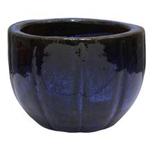 Vaso Cerâmica Vietnamita Azul Médio