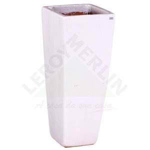 Vaso Cerâmica Vietnamita STKQK 069 38x90cm Branco D&D