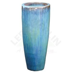 Vaso Cerâmica Vietnamita STKQK 069 38x90cm Turquesa D&D