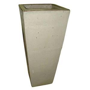 Vaso Cerâmica Vietnamita TTP3008 28x60cm Branco D&D