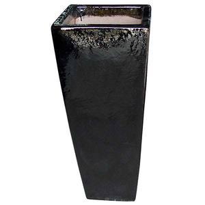 Vaso Cerâmica Vietnamita TTP3008 28x60cm Preto D&D
