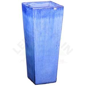 Vaso Cerâmica Vietnamita TTP3008 38x90cm Azul D&D