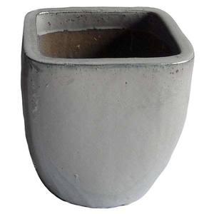 Vaso Cerâmica Vietnamita TTP3028 50x50cm Branco D&D